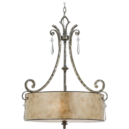 Quoizel Lighting Pendant Light in Mottled Silver Finish KD2824MM