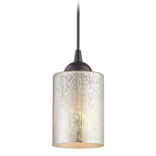 Design Classics Lighting Design Classics Gala Fuse Neuvelle Bronze LED Mini-Pendant Light with Cylindrical Shade 682-220 GL1039C