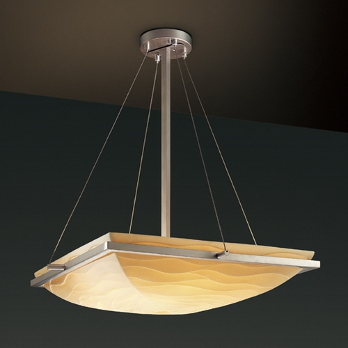 Justice Design Group Justice Design Group Porcelina Collection Pendant Light PNA-9792-25-WAVE-NCKL