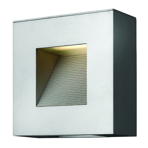 Hinkley Lighting Modern Outdoor Wall Light with Etched in Titanium Finish 1647TT