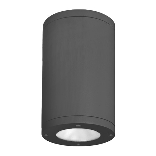 WAC Lighting 8-Inch Black LED Tube Architectural Flush Mount 3000K 3775LM DS-CD08-F30-BK