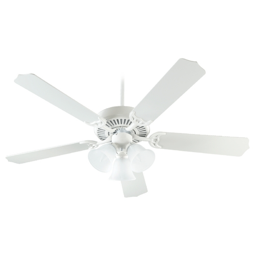 Quorum Lighting Quorum Lighting Capri Vi Studio White Ceiling Fan with Light 77525-1608