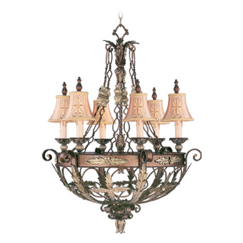Livex Lighting Livex Lighting Pomplano Palacial Bronze with Gilded Accents Chandelier 8846-64