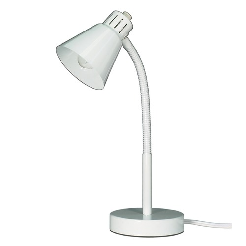 Satco Lighting Satco Basic White Desk Lamp 60/841