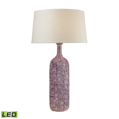 Dimond Lighting Dimond Lighting Purple, White Wash LED Table Lamp with Empire Shade D2612P-LED