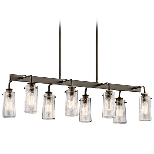 Kichler Lighting Kichler Lighting Braelyn Linear Chandelier with Cylindrical Shade 43457OZ