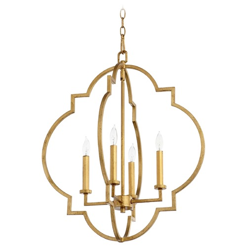 Quorum Lighting Quorum Lighting Dublin Gold Leaf Pendant Light 6942-4-74