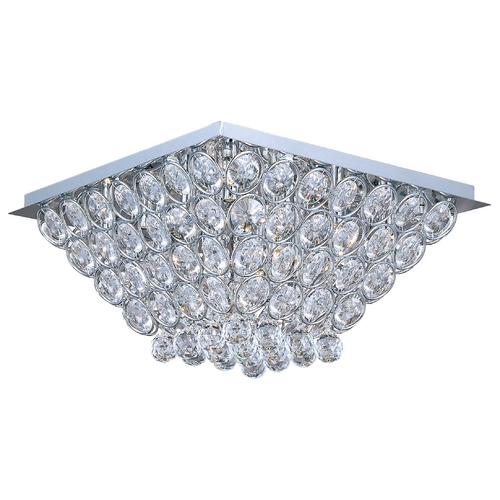 ET2 Lighting Modern Flushmount Light in Polished Chrome Finish E24000-20PC