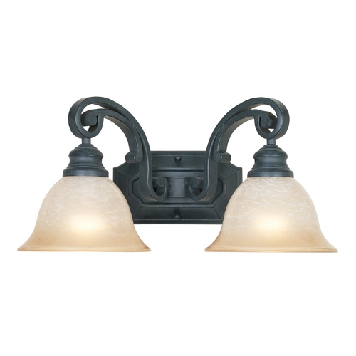 Designers Fountain Lighting Bathroom Light with Beige / Cream Glass in Natural Iron Finish 96102-NI