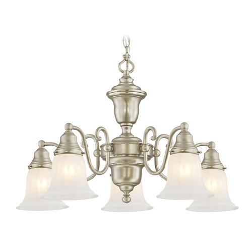 Design Classics Lighting Design Classics Holt Satin Nickel Chandelier 205-09 G9430