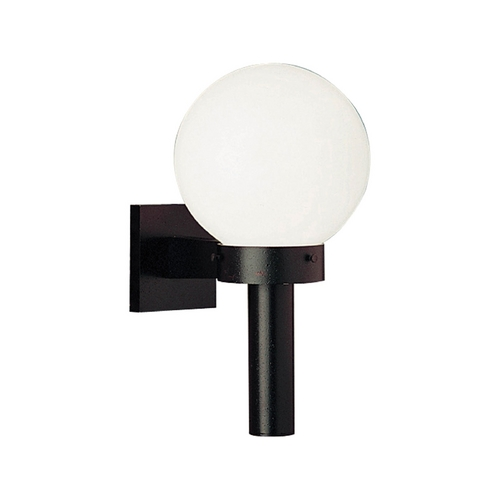 Progress Lighting Mid-Century Modern Outdoor Wall Light Black Acrylic Globe by Progress Lighting P5626-60