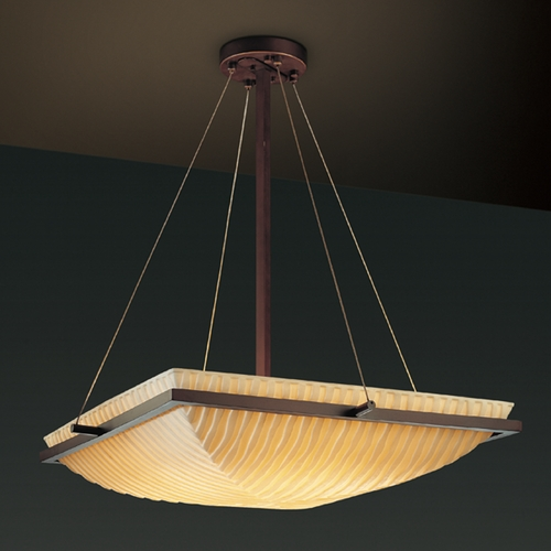 Justice Design Group Justice Design Group Porcelina Collection Pendant Light PNA-9792-25-WFAL-DBRZ