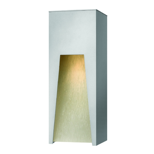 Hinkley Lighting Modern Outdoor Wall Light with Clear Glass in Titanium Finish 1764TT