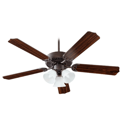 Quorum Lighting Quorum Lighting Capri Vi Toasted Sienna Ceiling Fan with Light 77525-1644