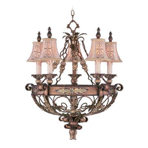 Livex Lighting Livex Lighting Pomplano Palacial Bronze with Gilded Accents Chandelier 8845-64