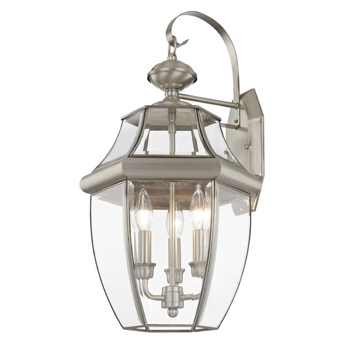 Livex Lighting Livex Lighting Monterey Brushed Nickel Outdoor Wall Light 2351-91