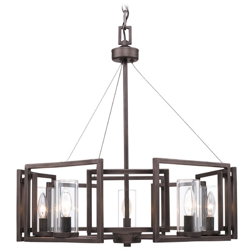 Golden Lighting Golden Lighting Marco Gunmetal Bronze Chandelier 6068-5 GMT