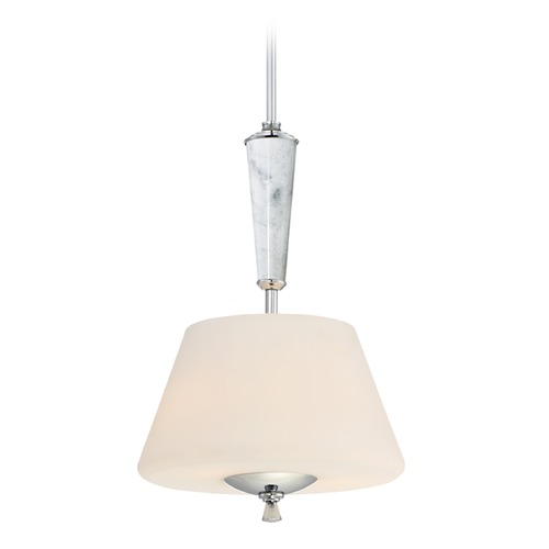 Designers Fountain Lighting Designers Fountain Lusso Chrome Pendant Light with Empire Shade 88731-CH