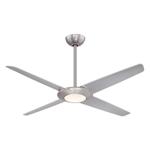 Minka Aire 62-Inch Minka Aire Pancake Xl Brushed Nickel LED Ceiling Fan with Light F739L-BN