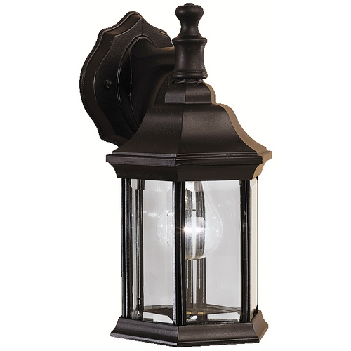 Kichler Lighting Kichler Outdoor Wall Light with Clear Glass in Black Finish 9776BK