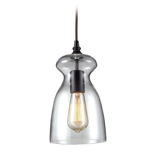 Elk Lighting Modern Mini-Pendant Light with Clear Glass 60043-1