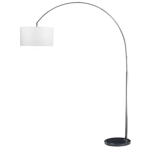 Kenroy Home Lighting Modern Arc Lamp in Brushed Steel Finish 32119BS
