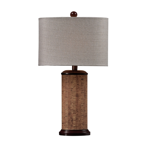 Dimond Lighting Table Lamp with Cork and Oval Shade D159