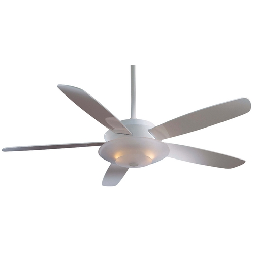 Minka Aire 54-Inch Ceiling Fan with Five Blades and Light Kit F598-WH