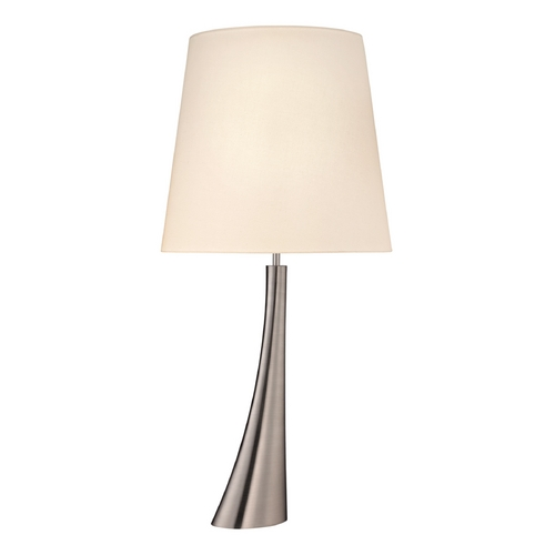 Sonneman Lighting Modern Table Lamp with Beige / Cream Shade in Satin Nickel Finish 6106.13