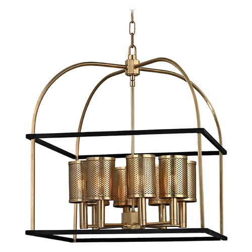 Hudson Valley Lighting Hudson Valley Lighting Vestal Aged Brass Pendant Light 4821-AGB