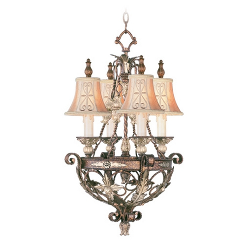 Livex Lighting Livex Lighting Pomplano Palacial Bronze with Gilded Accents Mini-Chandelier 8844-64