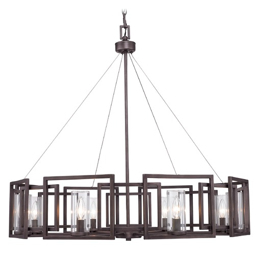 Golden Lighting Golden Lighting Marco Gunmetal Bronze Chandelier 6068-8 GMT