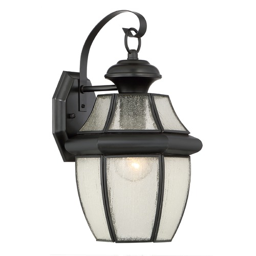 Quoizel Lighting Quoizel Newbury Mystic Black Outdoor Wall Light NY8409K