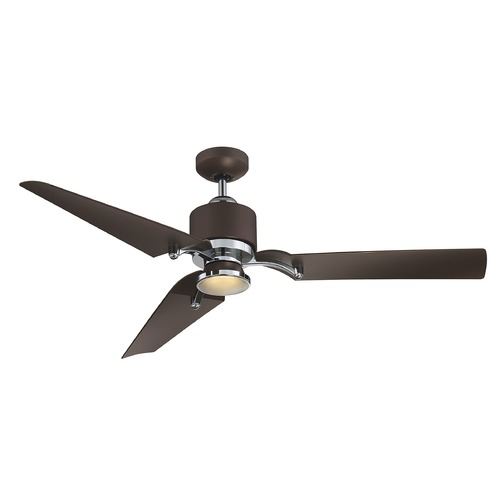 Savoy House Savoy House Lighting Wasp Metallic Bronze/chrome LED Ceiling Fan with Light 52-200-3BZ-MBCH