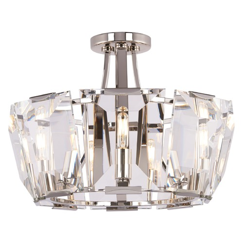 Metropolitan Lighting Metropolitan Castle Aurora Polished Nickel Semi-Flushmount Light N6987-613
