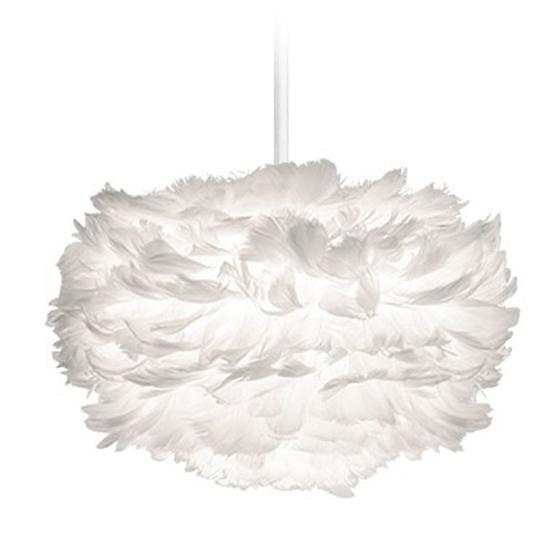 UMAGE UMAGE White Plug-In Swag Pendant Light with Bowl / Dome Shade 2011_4009