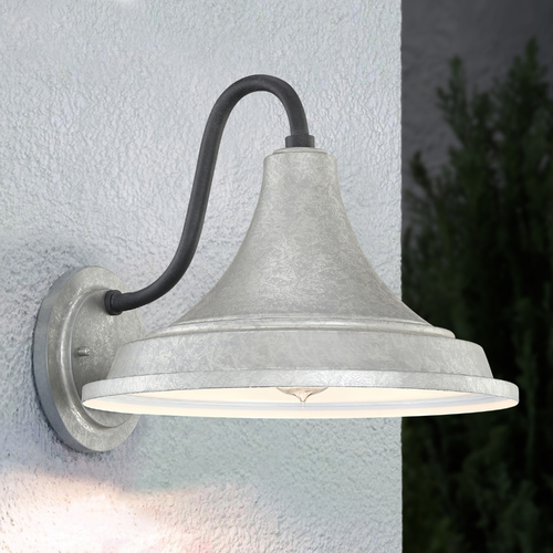 Quoizel Lighting Quoizel Lighting Oceanfront Galvanized Outdoor Wall Light OFT8414GV