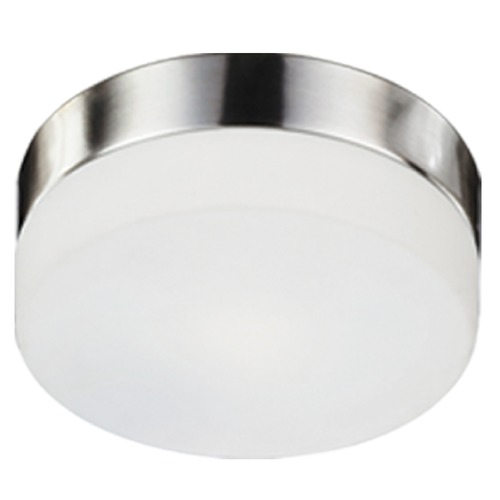 Kuzco Lighting Kuzco Lighting Modern Brushed Nickel Flushmount Light with White Opal Shade 52022BN