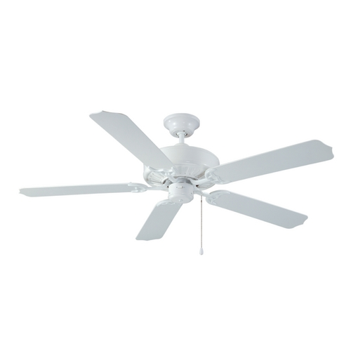 Craftmade Lighting Ceiling Fan Without Light in White Finish WOD52WW5P