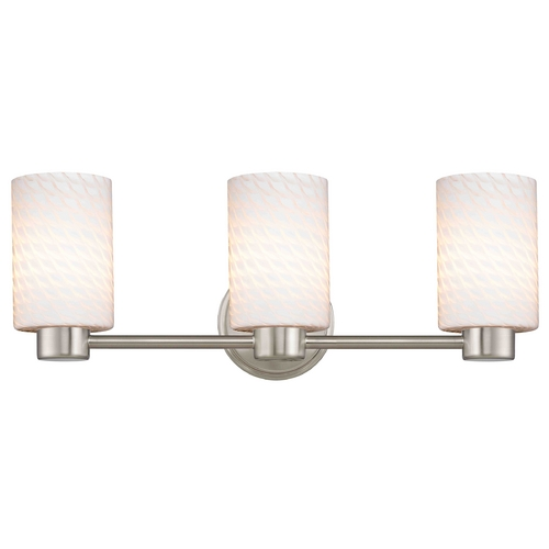 Design Classics Lighting Design Classics Lighting Aon Fuse Satin Nickel Bathroom Light 1803-09 GL1020C