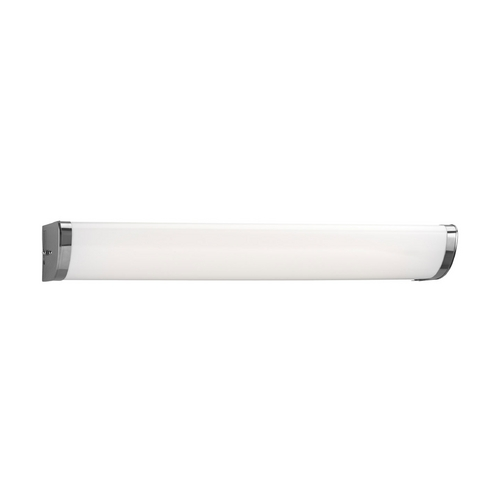 Progress Lighting Progress Bathroom Light with White in Chrome Finish P7230-15EB