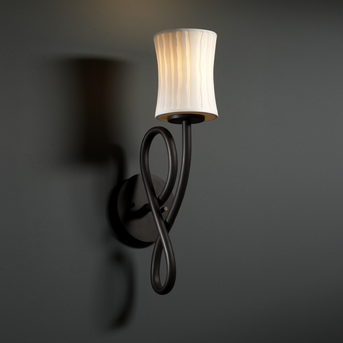Justice Design Group Justice Design Group Limoges Collection Sconce POR-8911-60-WFAL-DBRZ