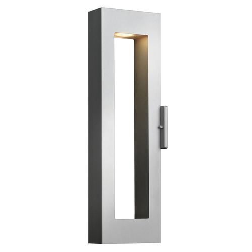 Hinkley Modern LED Outdoor Wall Light in Titanium Finish 1644TT-LED