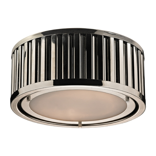 Elk Lighting LED Flushmount Light in Polished Nickel Finish 46100/2-LED