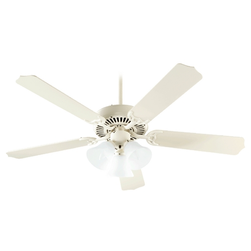 Quorum Lighting Quorum Lighting Capri Vi Antique White Ceiling Fan with Light 77525-1667