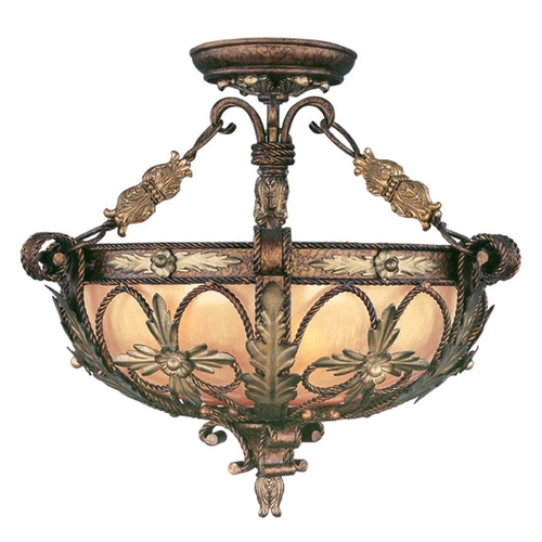 Livex Lighting Livex Lighting Pomplano Palacial Bronze with Gilded Accents Pendant Light 8843-64