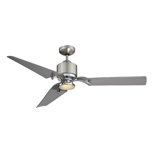 Savoy House Savoy House Lighting Wasp Satin Nickel/chrome LED Ceiling Fan with Light 52-200-3SV-SNCH