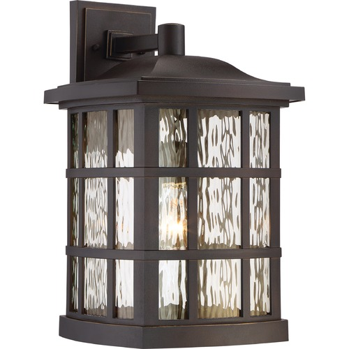Quoizel Lighting Quoizel Lighting Stonington Palladian Bronze Outdoor Wall Light SNN8411PNFL