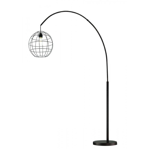 Lite Source Lighting Lite Source Kaden Copper Bronze Arc Lamp with Globe Shade LS-82791V