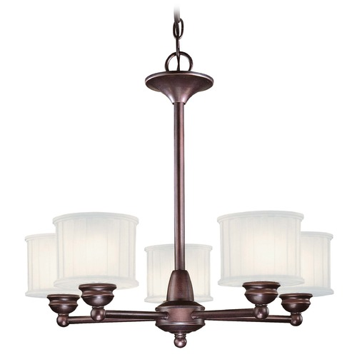 Minka Lavery Modern Chandelier with White Glass in Lathan Bronze Finish 1735-167
